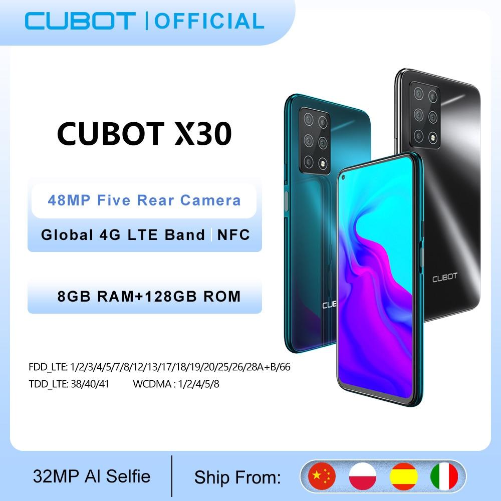 Cubot X30 Cellphone Global Version 48MP Five Camera 32MP Selfie 8GB+128GB NFC 6.4