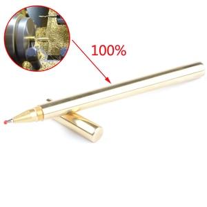 Brass 0.5mm gel ink pen 45g Heavy Roller ball Pen Stationery Writing Instrument Gift full metal ballpoint pen 0001