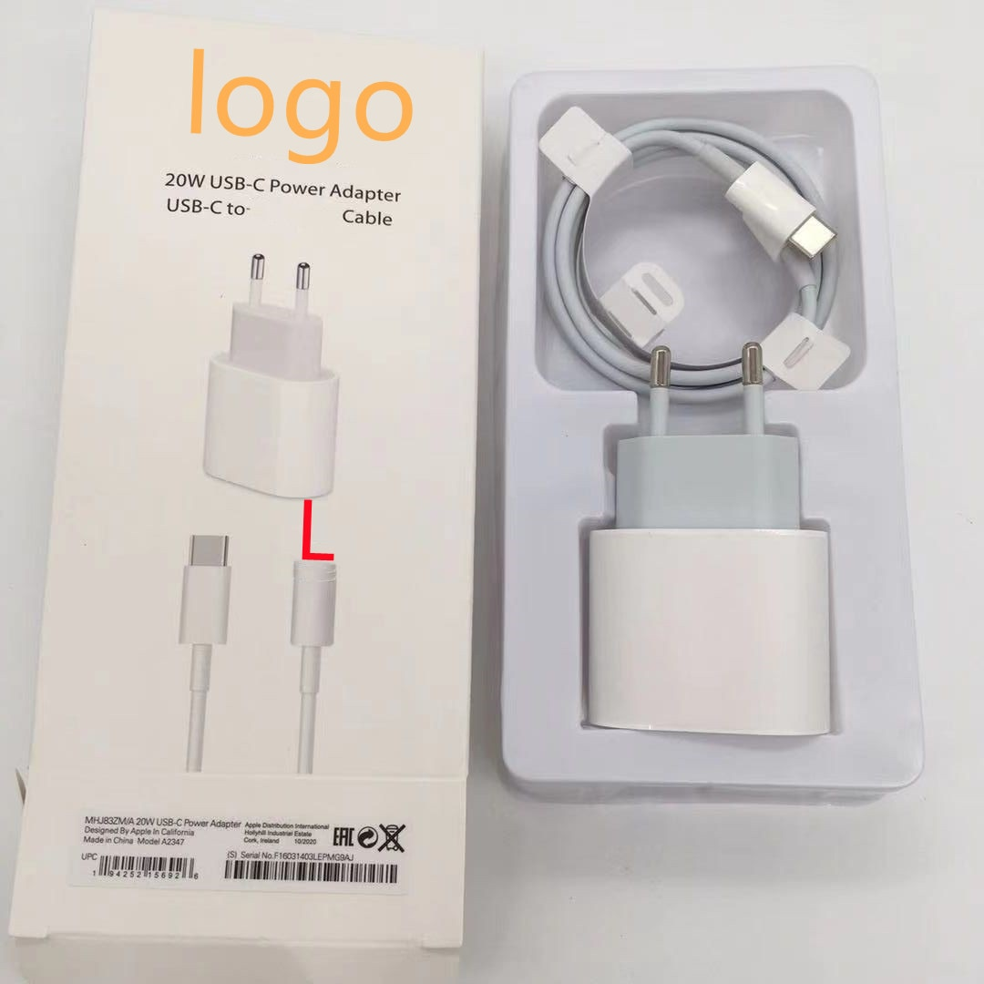 10set Original 20W PD Fast Charging set with 1m usb c cable for iphone 12 Pro Max XS XR iPad Type-C Cable Quick charger adapter