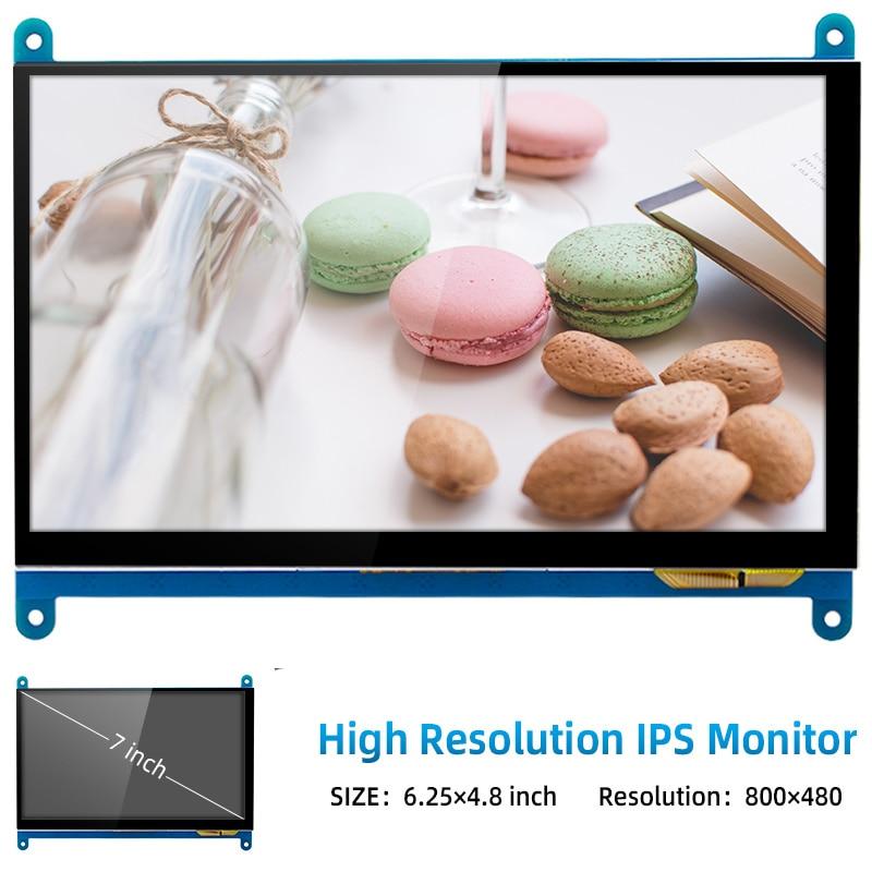 Touch screen raspberry PI 4B / 3B + / 3B 7-inch, 1024x600800x480, optional    nano notebook enlarge