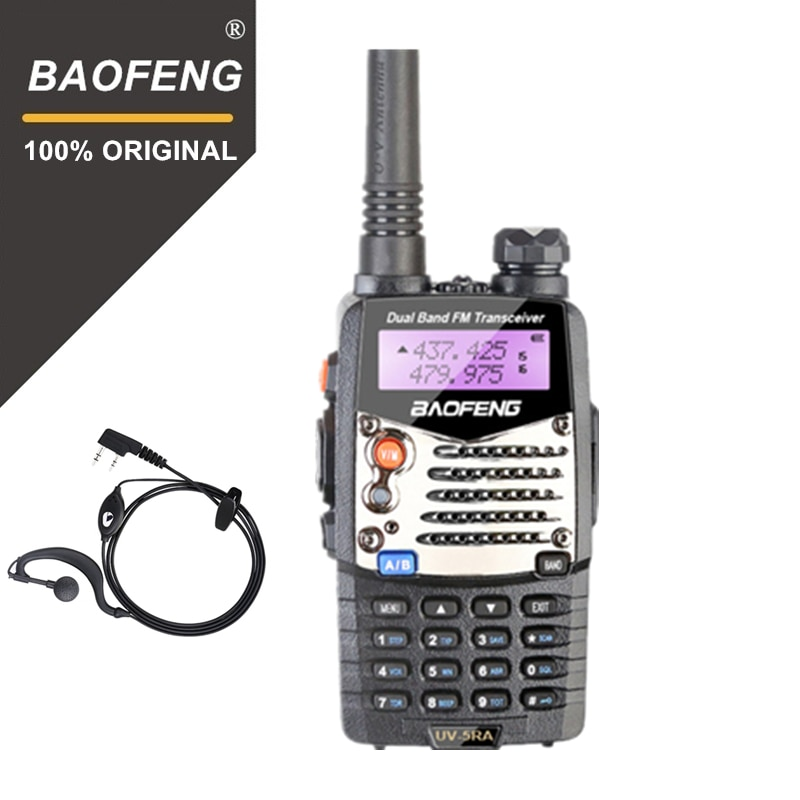Портативная рация Baofeng, мощная Двухдиапазонная портативная рация 5 Вт, двухсторонняя радиостанция Ham UHF/VHF, коммуникатор HF, приемопередатчик, ...