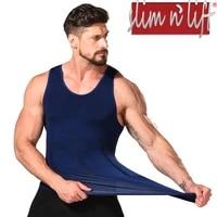 just one seamless mens slimming body shaper gynecomastia vest shirt tank top compression shirt shapewear for men by slim n lift