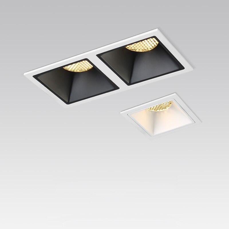 مصباح سقف LED مستطيل ، إضاءة داخلية ، إضاءة سقف زخرفية ، مثالي لغرفة المعيشة أو غرفة النوم ، 7/10W ، 110V ، 20W ، 220V