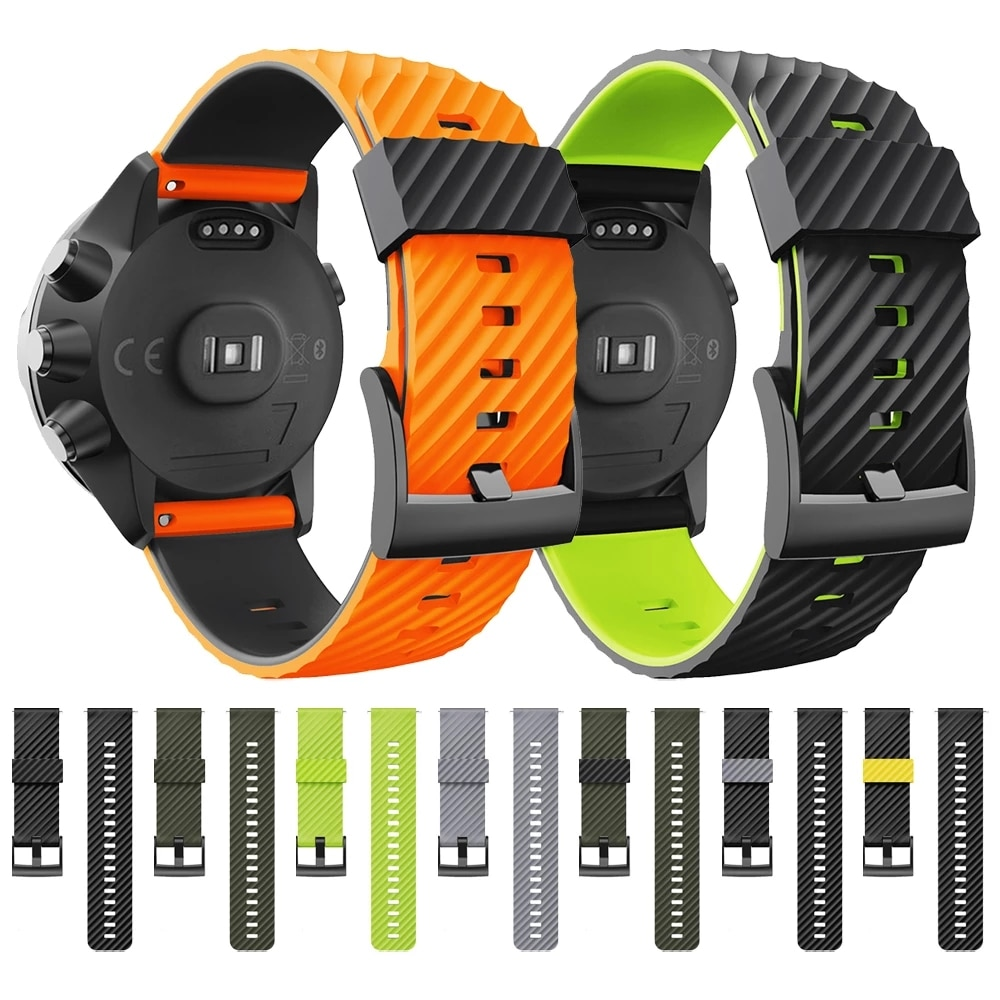 watchband for suunto 9 peak suunto 3 watch strap band soft silicone wristband bracelet replace accessories UEBN 24mm Sports Silicone Strap For SUUNTO 9 BARO WristBand For Suunto 7&D5 Watch Band Watchand Bracelet Replace Accessories
