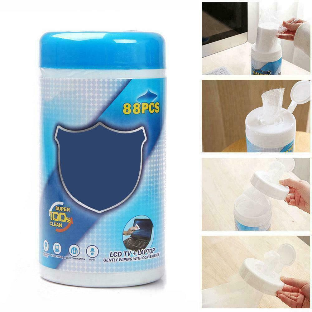 88 pçs/caixa limpeza toalhetes molhados macio portátil monitor lcd tela do telefone lente de vidro toalhetes vdx99