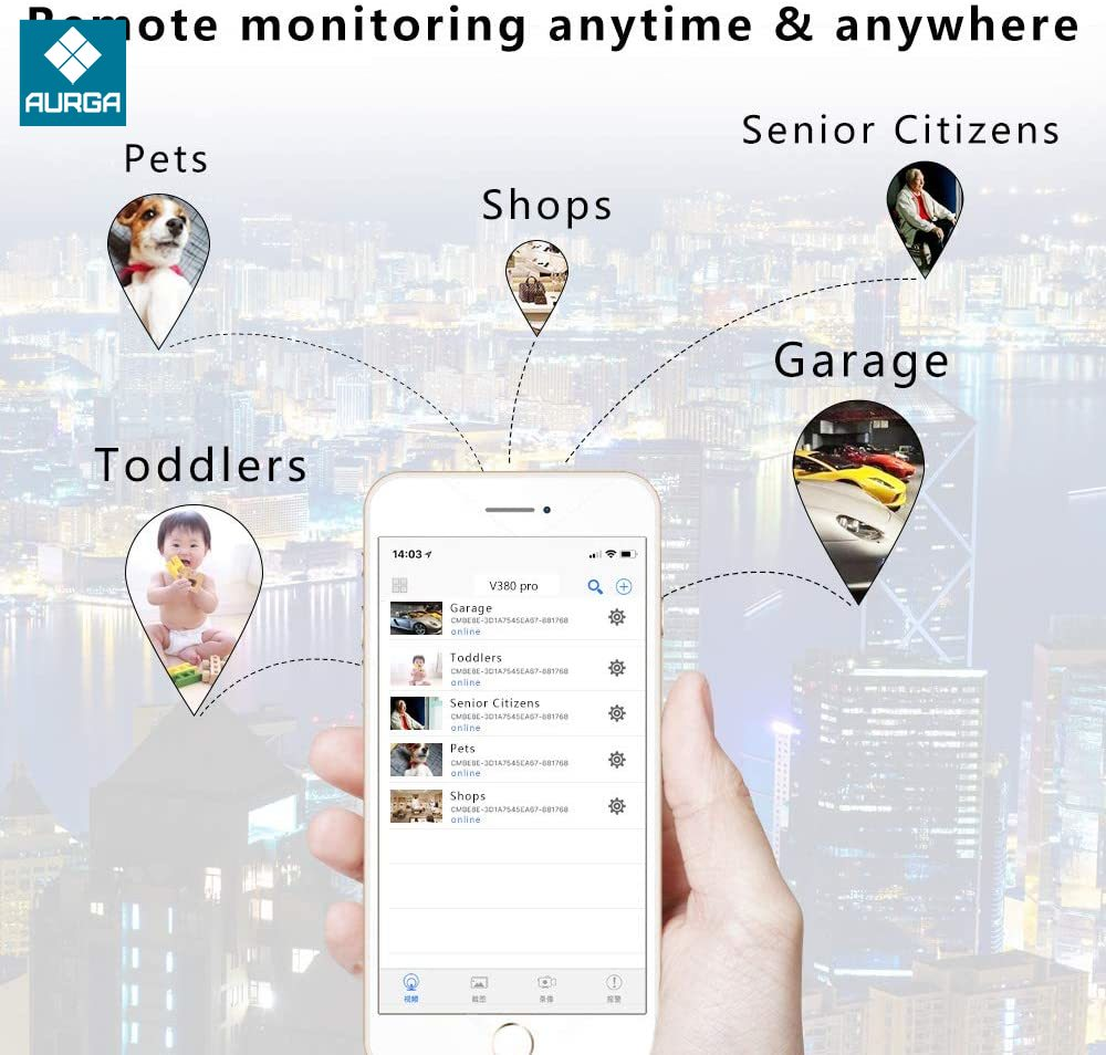 HD Smart Mini Wifi USB Camera Real-time Surveillance IP Camera AI Human Detection Loop Recording Mini camera Support 64G enlarge