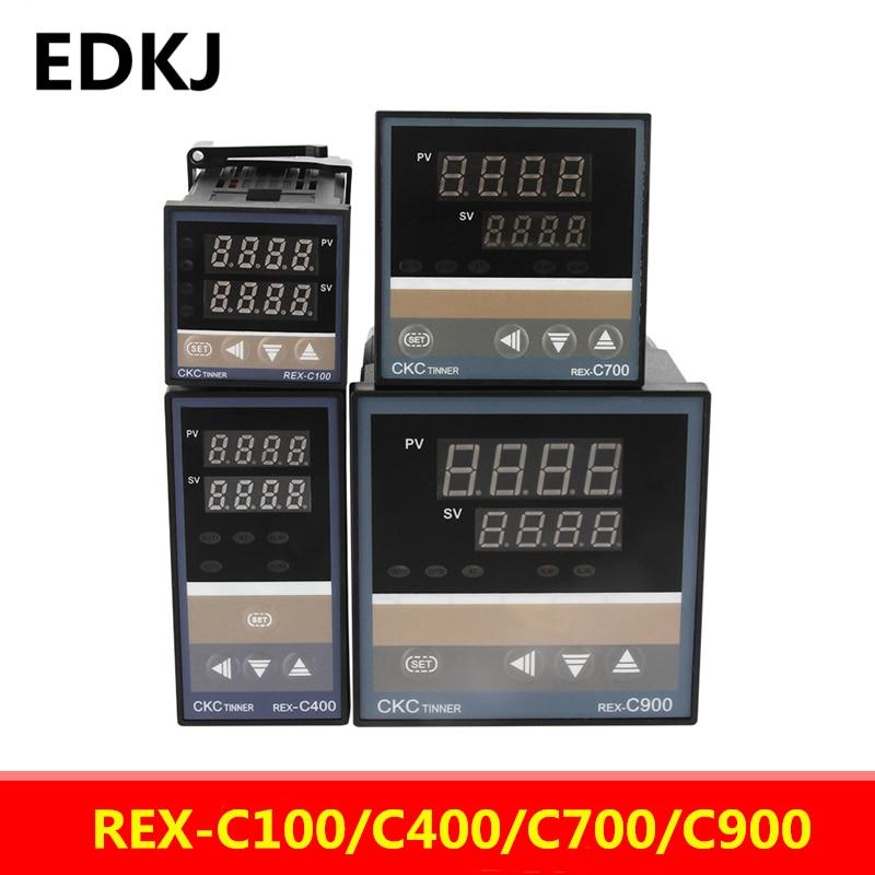 REX-C100-C400-C700-C900 Thermostat RKC PID Digital intelligent Industrial temperature controller 220V RELAY  SSR Relay output rex c100 digital rkc pid thermostat temperature controller digital 40a ssr relay k thermocouple probe heat sink