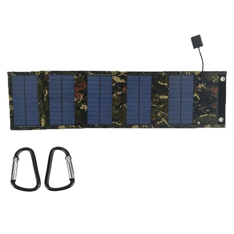 15 واط 5 فولت 2XUSB PET طوي ألواح شمسية أحادية البلورية شاحن المحمولة لحقيبة الظهر/المحمول/الكمبيوتر/سيارة/شحن المجلس