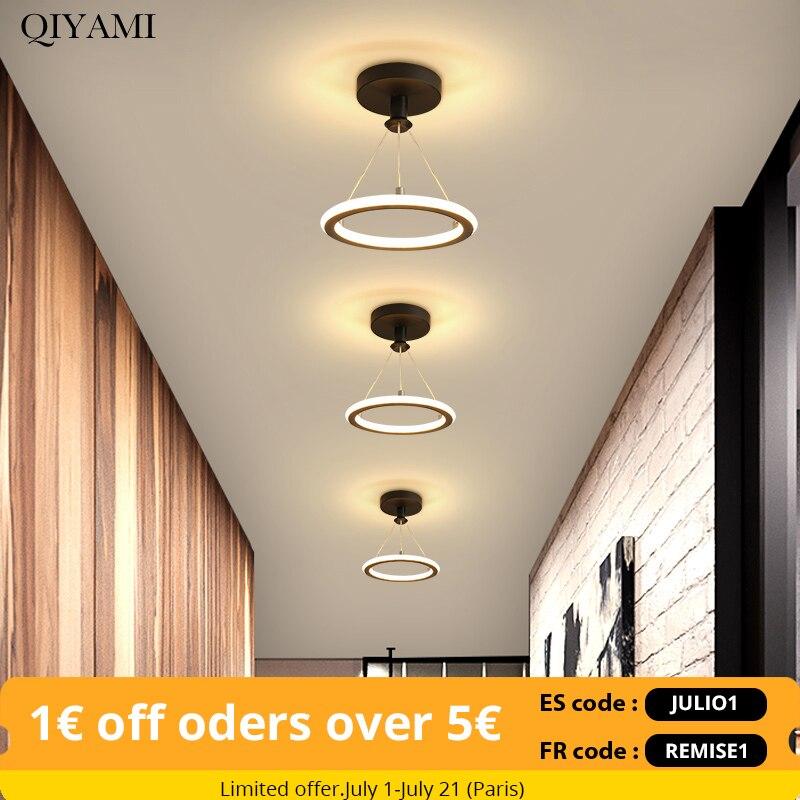 الحديثة LED الثريات مصابيح لغرفة المعيشة غرفة نوم الممر حلقة داخلي أضواء الإضاءة سقف جبل الإنارة بريق الحديثة