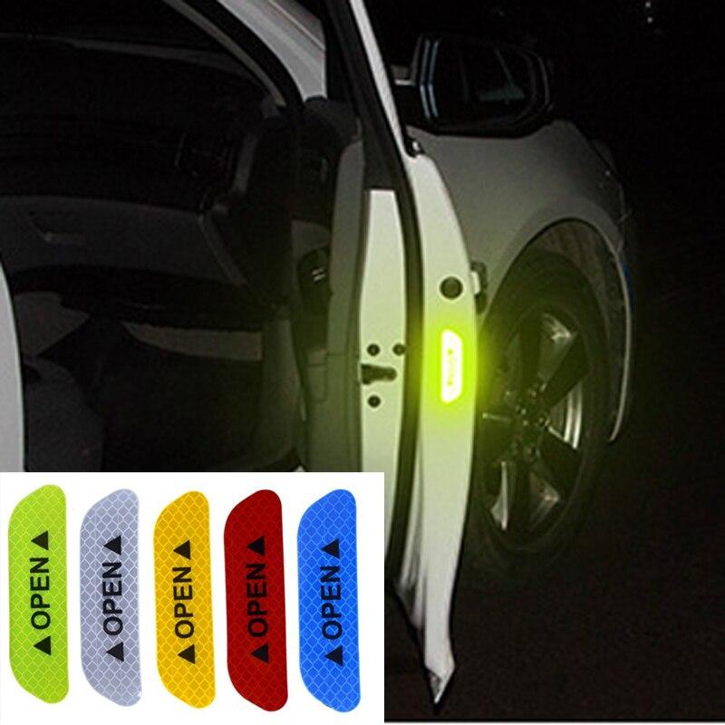 4 шт. стикер на дверь автомобиля, предупреждающий светоотражающий стикер для Opel Astra VAUXHALL MOKKA Zafira Insignia Vectra Antara