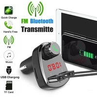 dual usb wireless car kit bluetooth mp3 music player hands free calling car kit usb charger mobile phone chargers