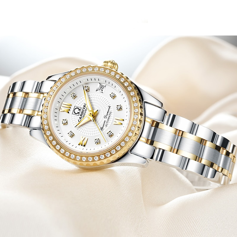 Carnival Mechanical Women Watches Switzerland Luxury Brand Sapphire Automatic Watch Women Luminous Ladies Wristwatch Reloj Mujer enlarge