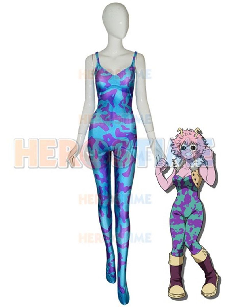 Nieuwe My Hero Academia Pinky Cosplay Kostuum Anime Ashido Mina Boku geen Hero Academia Zentai Suits Halloween Carnaval Jumpsuits