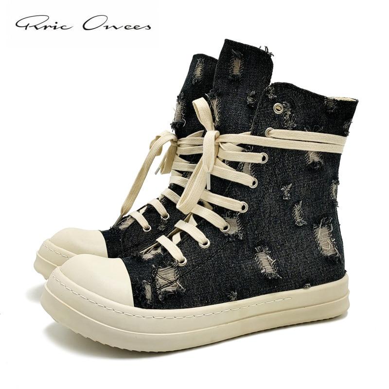 ريك الرجال أحذية رياضية Owens حذاء رجالي كاجوال المرأة أحذية رياضية 2021 ممزق الدينيم Wo حذاء رجالي حذاء رجالي المرأة