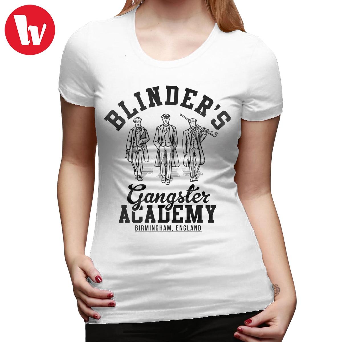Peaky Blinders camiseta Peaky Blinders gángster Academy Birmingham Inglaterra camiseta patrón púrpura mujeres camiseta señoras camiseta