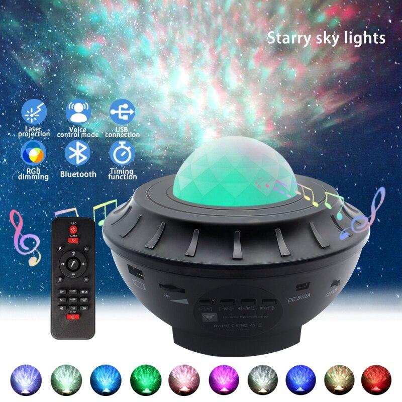 1 шт. светодиодные лампочки звездочки, океанская волна проектор ночник Galaxy проектором