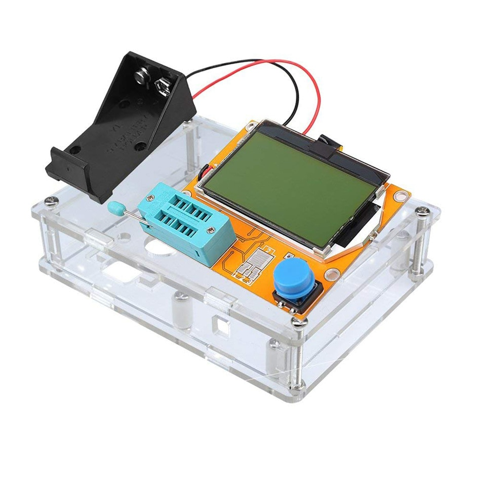 ESR Meter Mega328 Transistor Tester Digital V2.68 ESR-T4 Diode Triode Capacitance MOS/PNP/NPN LCR 12864 LCD Screen Tester 20pcs sp8m3 lcd high pressure plate mos transistor