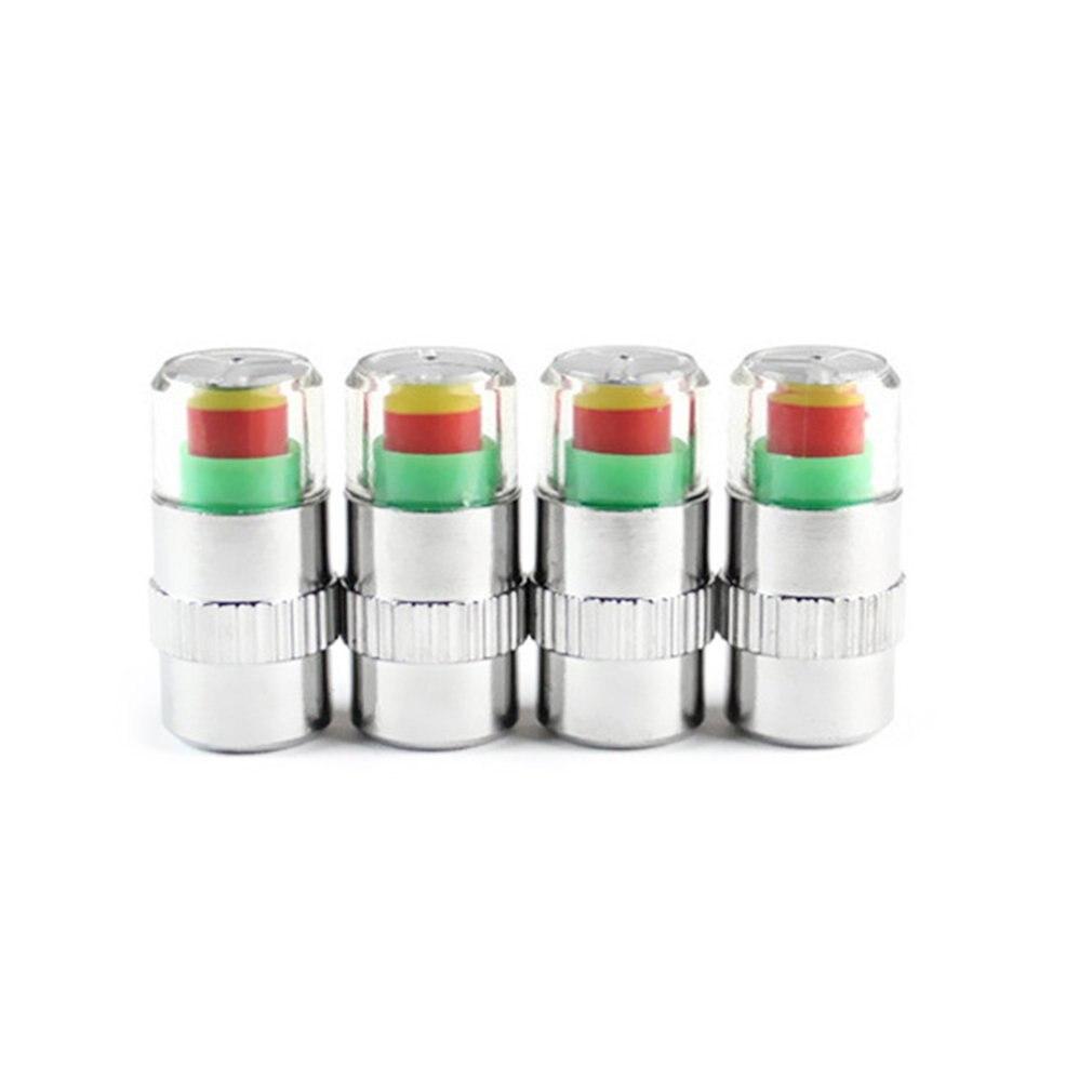4pcs/set Car Tire Pressure Monitor Valve Stem Caps Air Alert Tire Valve Cap Pressure Sensor Monitor Light Cap Indicator недорого