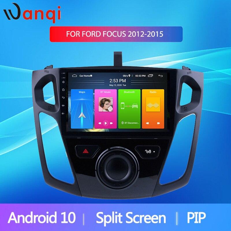 Pantalla dividida de 9 pulgadas Wanqi Android 10 para 2012 2013 2014 2015 Ford Focus reproductor Multimedia GPS Radio de coche estéreo BT WIFI SIN DVD 2din