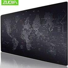 Zuoya Extra Grote Gaming Muismat World Map Vergrendeling Rand Muis Mat Gaming Muis Anti-Slip Rubber Mousepad Voor game Laptop Pc