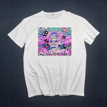Vaporwave T Hemd männer frauen t-shirts Traurig Mädchen Retro Japanischen Anime Männer t-shirt ästhetischen Top t-shirt T Shirt Harajuk männlichen frauen