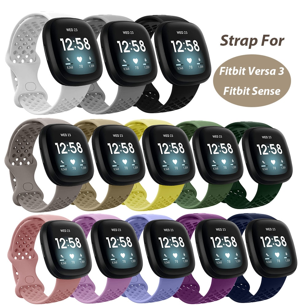 floral printed strap for fitbit versa band silicone flower bracelet fitbit versa replacement bands bracelet wristband watchbands Replacement Band For Fitbit Versa 3 Strap Silicone Smart Watch Colorful Wristband for Fitbit Sense Bracelet for Versa 3 Band