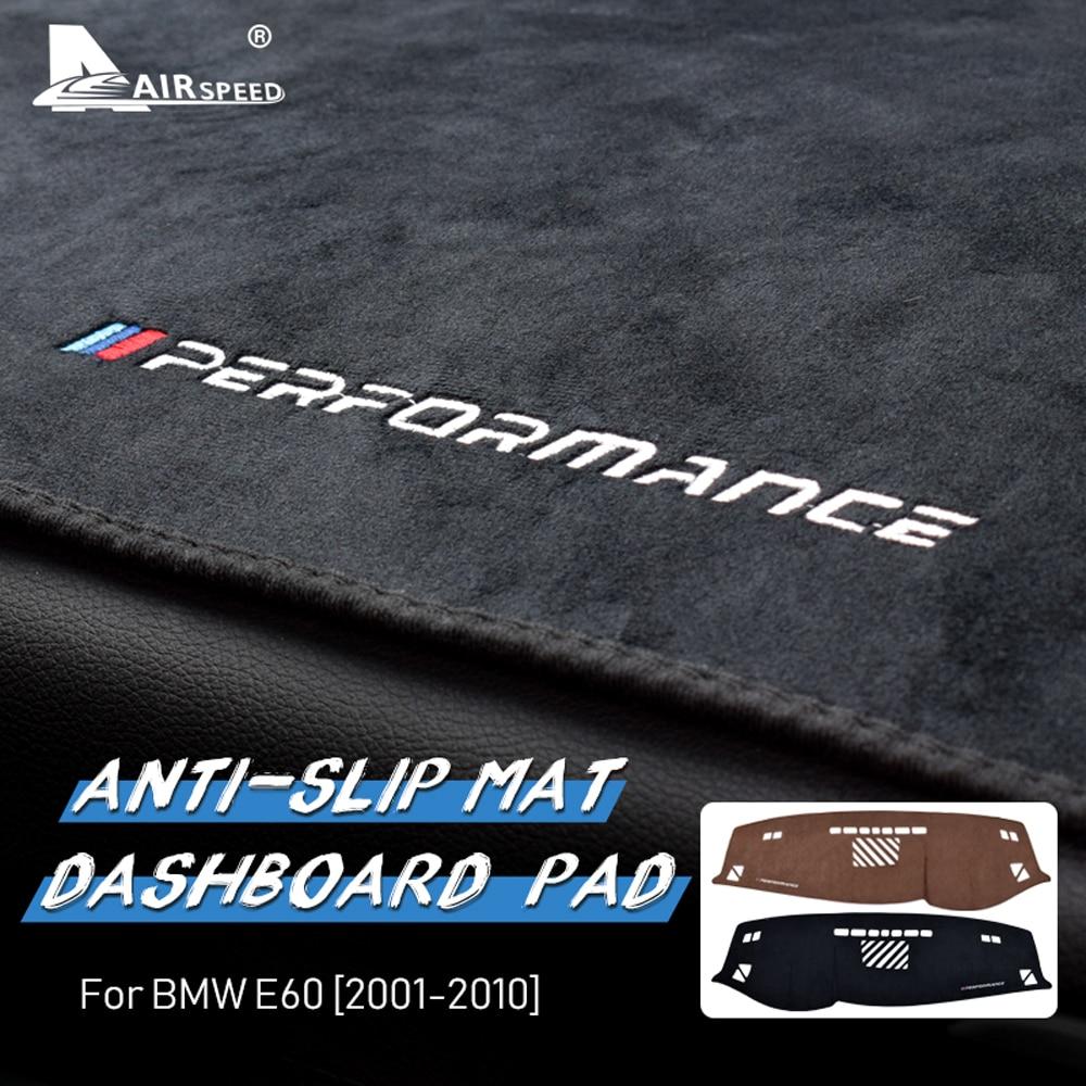 AIRSPEED for BMW 5 Series E60 Accessories Flannel Car Anti Slip Anti UV Mat Dashboard Cover Pad Dashmat Carpet Interior Trim
