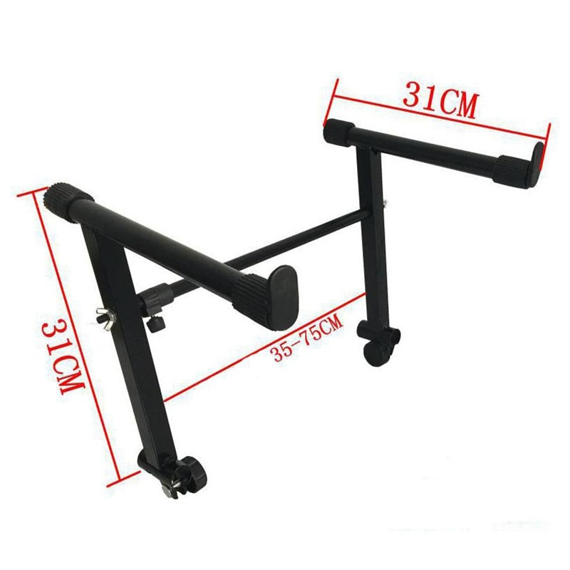 Adjustable Black Heightening Electronic Piano Rack Stand Keyboard Support Holder enlarge
