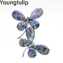 Jong Tulp Kleurrijke Twee Vlinder Vrouwen Broches Fancy Stijl Pins Accessoire Shirts Jurk Emaille Sieraden Voor Liefhebbers Geschenken