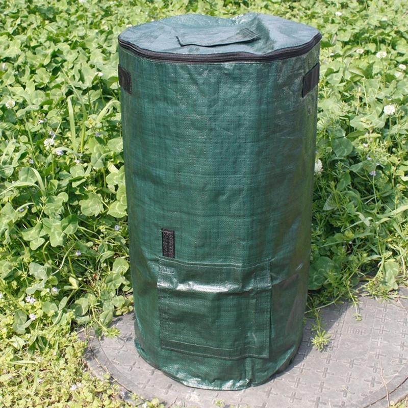 Organische Afval Keuken Tuin Yard Compost Zak Milieu Pe Doek Planter Keuken Afvalverwijdering Organische Compost Zak