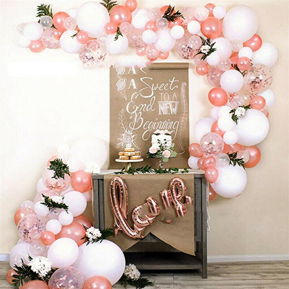 PATIMATE Rose Gold Balloon Arch Garland Kit Wedding Baloon Birthday Kids Latex Baby Confetti Shower Decor Ballon Party Birt R4A1
