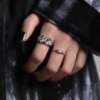 modern jewelry metal ring popular design silvery plating autumn winter style hot selling women ring for girl fine accessories