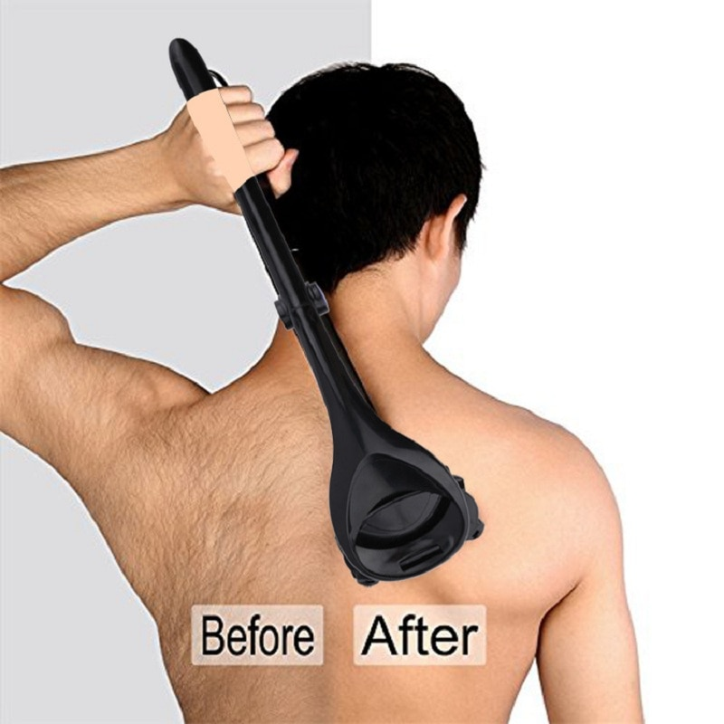 Free Shipping Fast Delivery  Men Back Shaver Removal Razors Hair Shaver Two Head Blade Foldable Trimmer Body Leg Long Handle