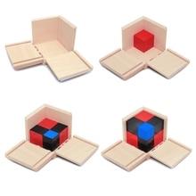 Малыш для раннего обучения по системе Монтессори алгебра Математика Бином куб набор деревянная игрушка