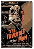 oulili metal sign the invisible man tin sign retro plaque poster 8x12 inch wall decor