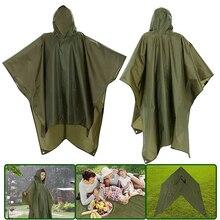 2021 Multifunctional 3 In 1 Hooded Rain Poncho เสื้อกันฝนกันน้ำสำหรับผู้ชายผู้หญิงผู้ใหญ่กลางแจ้งเต็นท์