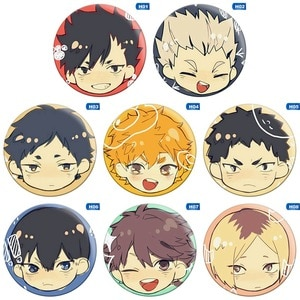 New Fashion Trendy Anime Haikyuu!! Cosplay Party Pin Button Brooch Badges Christmas Gift for Friend