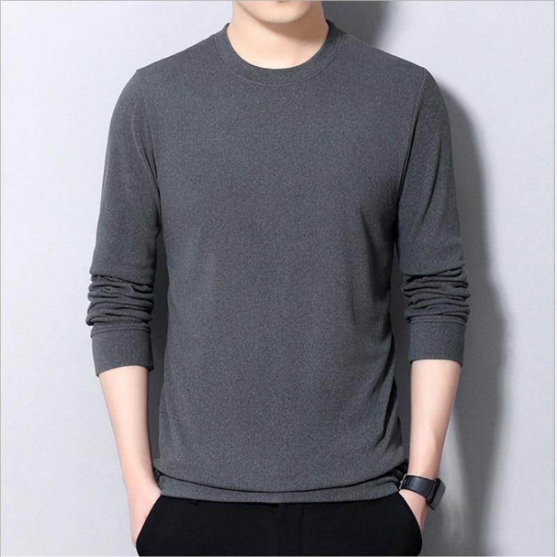 Зимний мужской флисовый пуловер, удобные облегающие вязаные свитеры, рубашка 2020, Осенний теплый Однотонный свитер с длинным рукавом 4XL