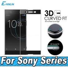 Protecteur décran pour Sony Xperia XZ XZS XA1 XA2 X XZ1 XZ2 Compact Premium Ultra Plus 3D couverture complète Film en verre trempé incurvé
