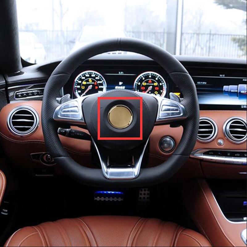 52/57mm Car Styling Steering Wheel Center Star Emblem ABS Decoration Logo Sticker for Mercedes Benz AMG Apple Tree GLC GLE CLS