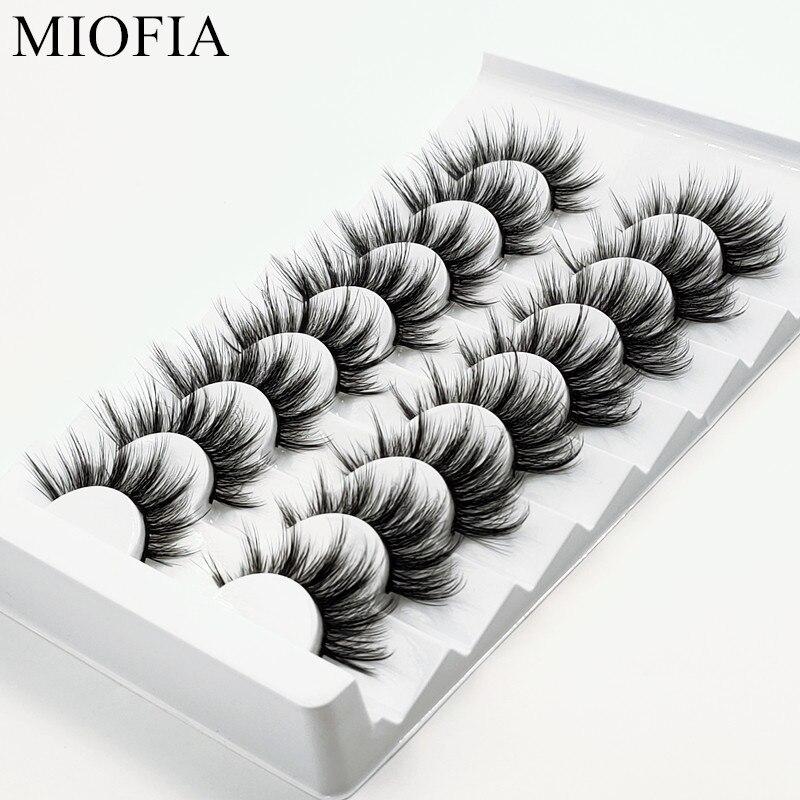MIOFIA 5/8 pair of natural long lashes handmade soft 3D mink eyelashes dramatic makeup eyelashes eyelash extensions