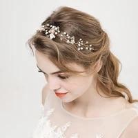 bride handmade pearl headdress vew wedding headband flower wedding accessories hot selling jewelry hair accessories