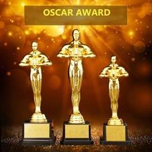 Personnalisé Oscar trophée récompenses réplique petit or homme PC plaqué or équipe Sport compétition artisanat Souvenirs fête célébrations cadeaux