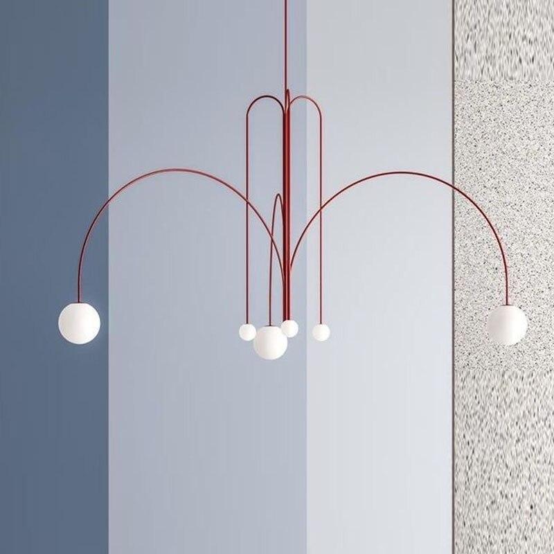 Art Deco De Vidro Bola Lustre de Iluminação Moderna Sala de estar/Quarto/Restaurante/hotel/Suspensão Pendurado Lâmpada Nórdico luz Fixtur