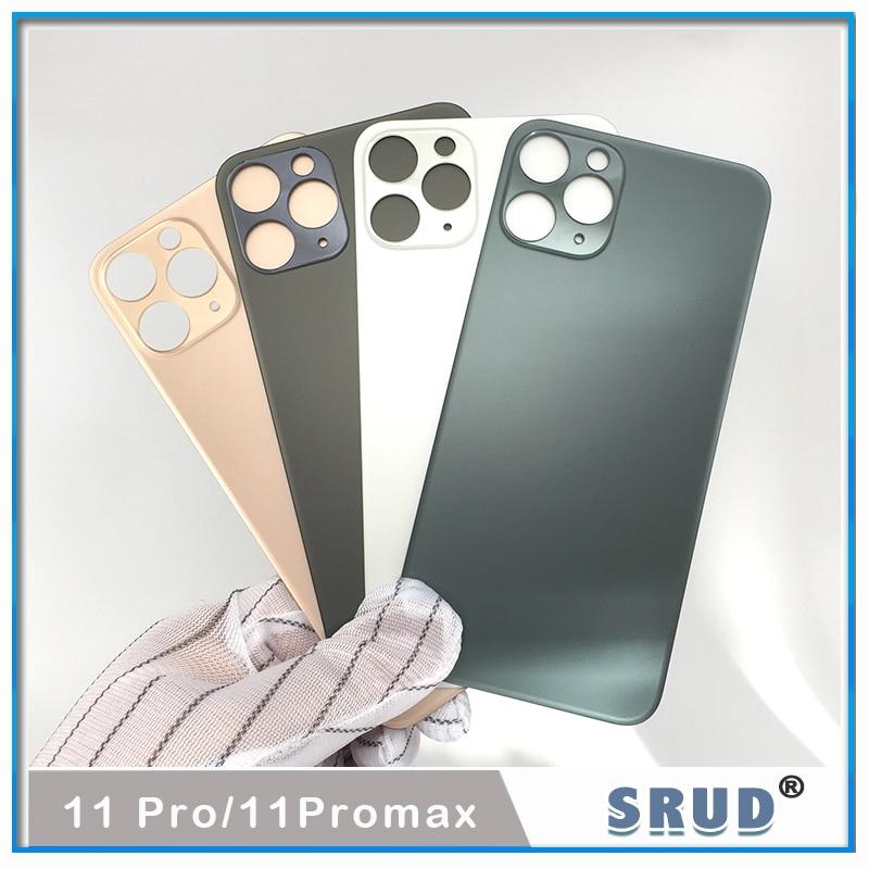 La mejor carcasa trasera para batería de teléfono con orificio grande para iPhone 11 pro, 11 pro, 11 pro max, reemplazo de carcasa trasera, fácil de cambiar