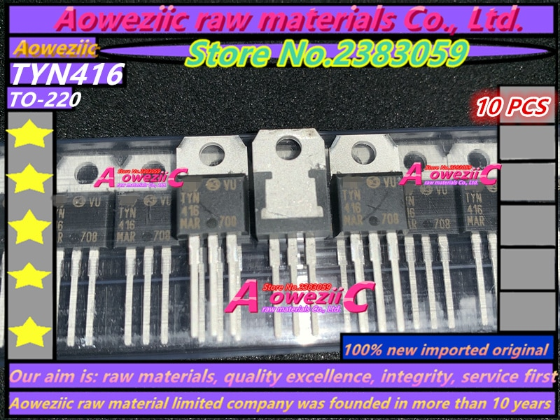 Aoweziic 100% novo importado originais TYN416 STP25NM60N P25NM60N STP141NF55 P141NF55 BYV32E-200 BYV32E200 TO-220 transistor