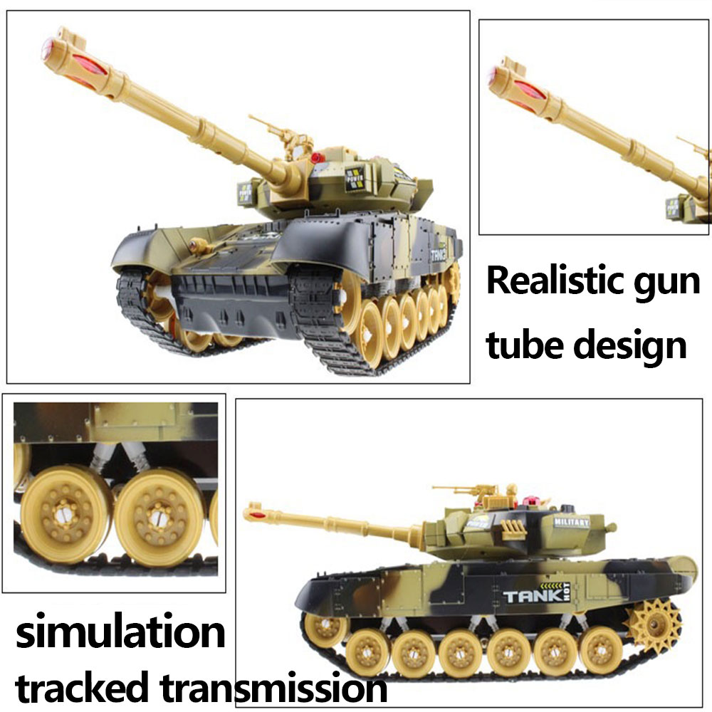 44CM RC tank Military Tactical Vehicle Lighting Off-road Tracked Remote Control Tanks Model Chassis world of tanks Toys For Boys enlarge