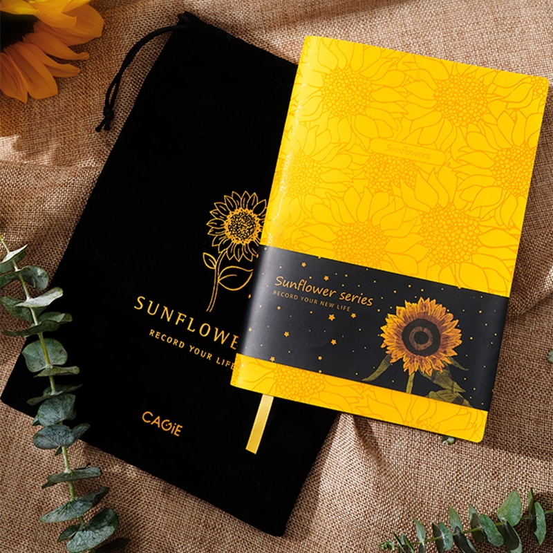 Sunshine Vitality PU Leather Original A5 Notebook Cover Diary Planner Sunflower Journal Stationery Notepad Agenda Organizer