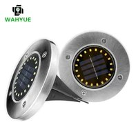 4pcslot 20led solar lawn lamp outdoor yard buried decoration night lights ip65 waterproof pathway floor under ground spot lamp