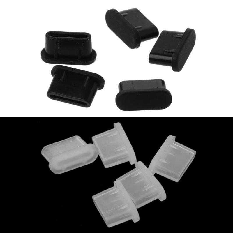 5 шт тип-c пылезащитный usb-порт для зарядки, силиконовый чехол для Samsung, аксессуары для смартфонов-2